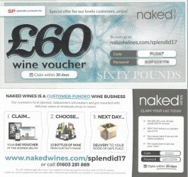 Free Naked Wines Voucher with every order